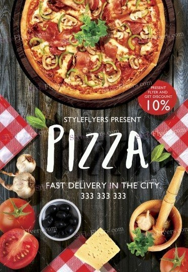 Pizza Party Flyer Template Free Elegant Pizza Flyer Psd Template Styleflyers