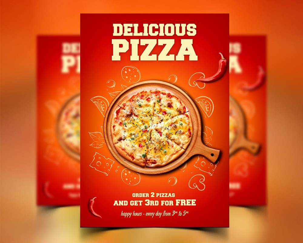 Pizza Party Flyer Template Free Fresh Free Pizza Flyer Poster Template Psd Download Psd