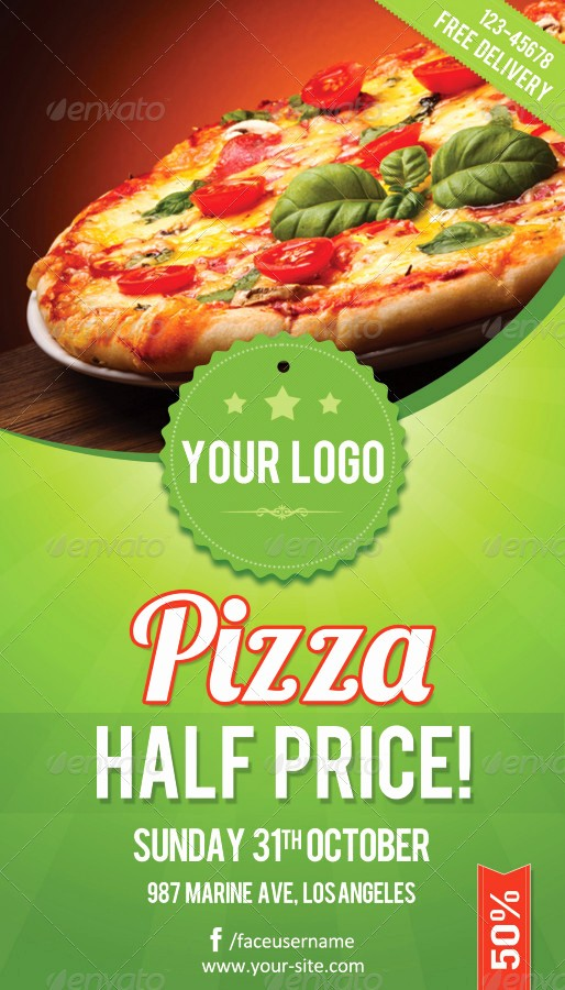 Pizza Party Flyer Template Free Inspirational Pizza Flyer Rsplaneta Graphic Design