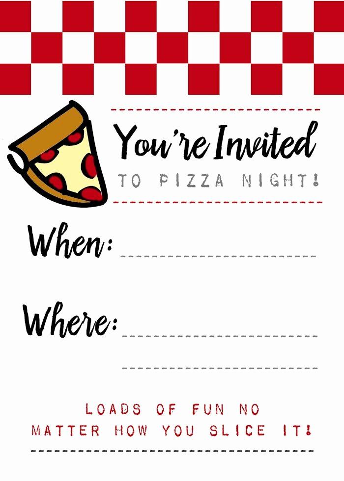 pizza night invites