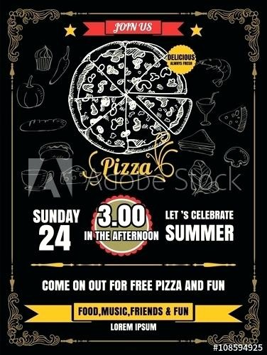 Pizza Party Flyer Template Free Inspirational Pizza Party Flyer Template Pizza Party Flyer Awesome Pizza