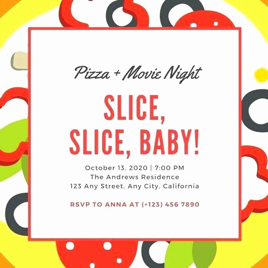 Pizza Party Flyer Template Free Inspirational Pizza Party Flyer Template Pizza Party Flyer Templates