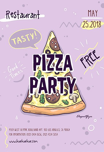 Pizza Party Flyer Template Free Lovely Fast Food – Free Psd Tri Fold Psd Brochure Template – by