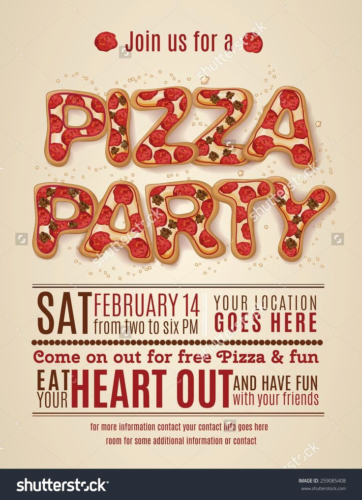 Pizza Party Flyer Template Free Luxury 1000 Ideas About Party Invitation Templates On Pinterest