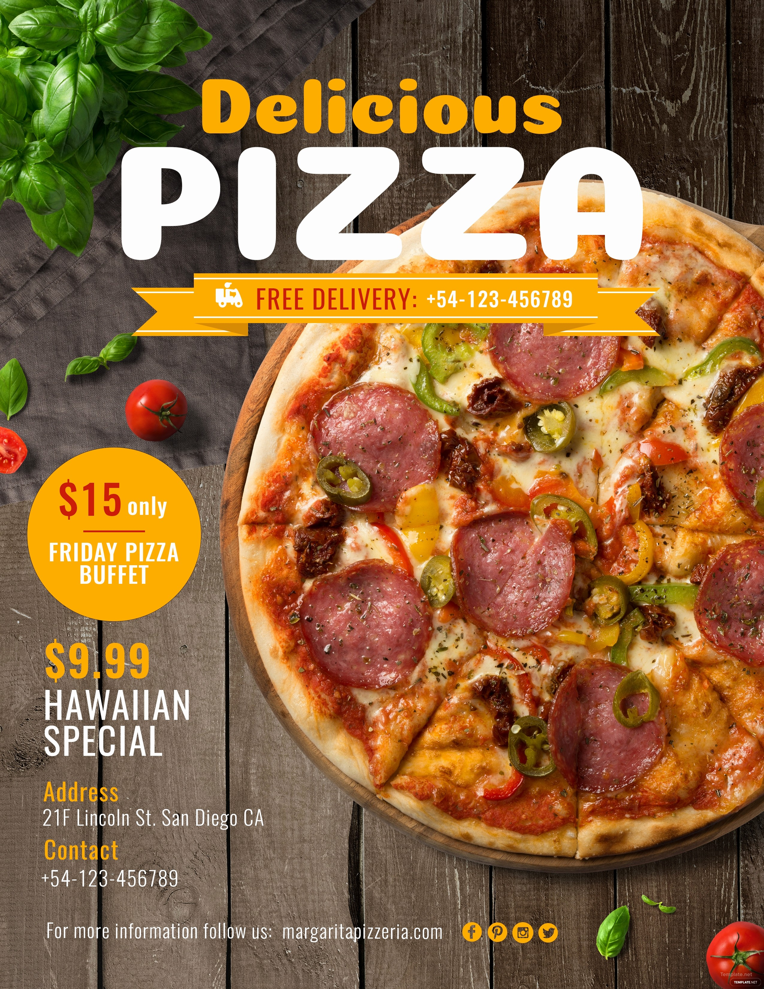 Pizza Party Flyer Template Free New Free Pizza Flyer Template In Adobe Shop