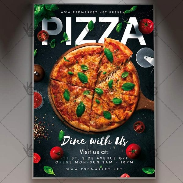 Pizza Party Flyer Template Free New Pizza Flyer Food Psd Template