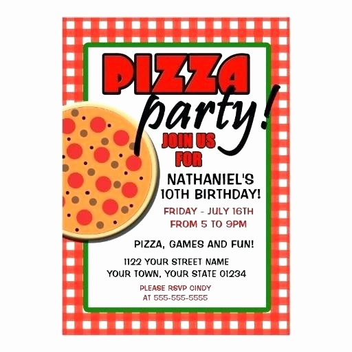 Pizza Party Flyer Template Free New Pizza Party Flyer Template Pizza Party Flyer Awesome Pizza
