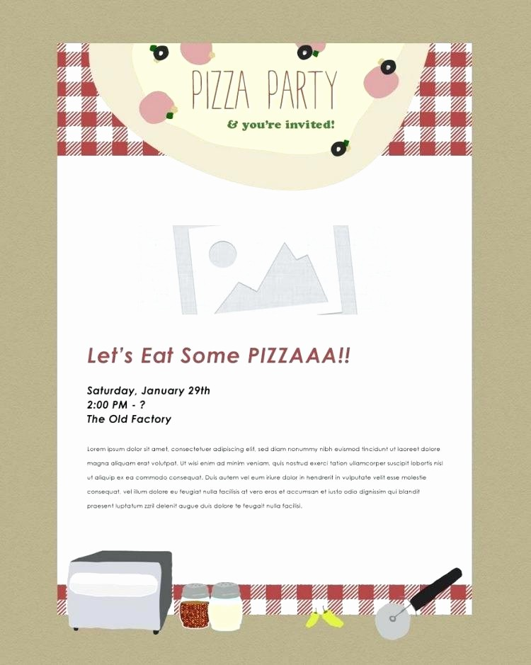 Pizza Party Flyer Template Free Unique Free Invitation software Download Pizza Party Flyer