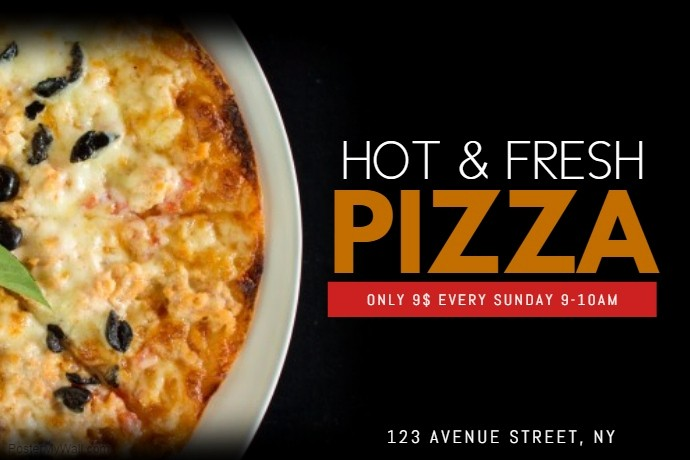 Pizza Party Flyer Template Free Unique Pizza Flyer Template