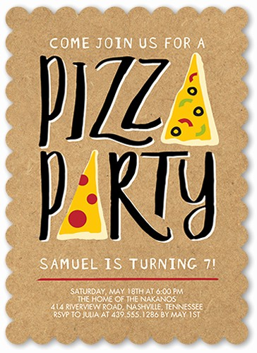 Pizza Party Flyer Template Free Unique Pizza Party Invitations