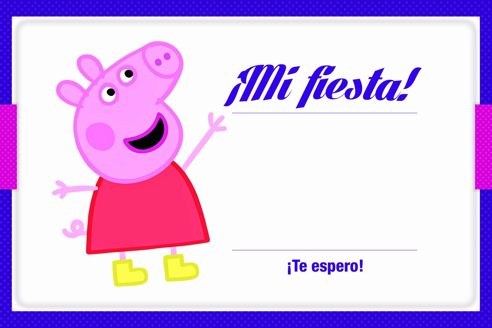 Plantillas De Cumpleaños Para Editar Awesome Invitacion Peppa Pig Para Imprimir Gratis Plantilla
