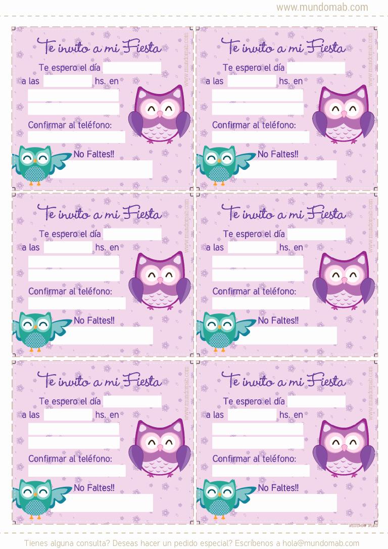 Plantillas De Cumpleaños Para Editar Beautiful Buhos Y Lechuzas Kit De Cumpleaños Para Imprimir En Tu