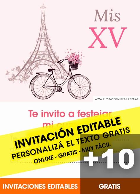Plantillas De Cumpleaños Para Editar Beautiful Invitaciones De 15 Aos Para Editar E Imprimir Gratis