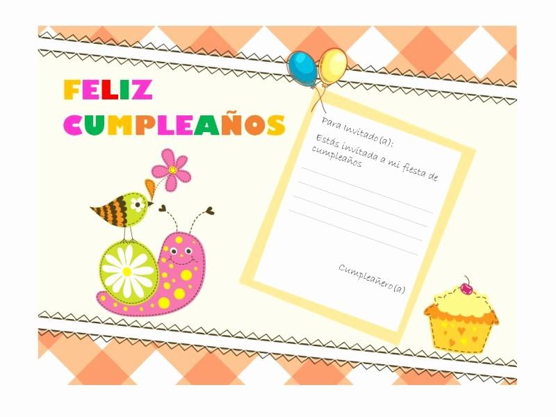 Plantillas De Cumpleaños Para Editar Best Of Invitación A Cumpleaños Diseño Infantil