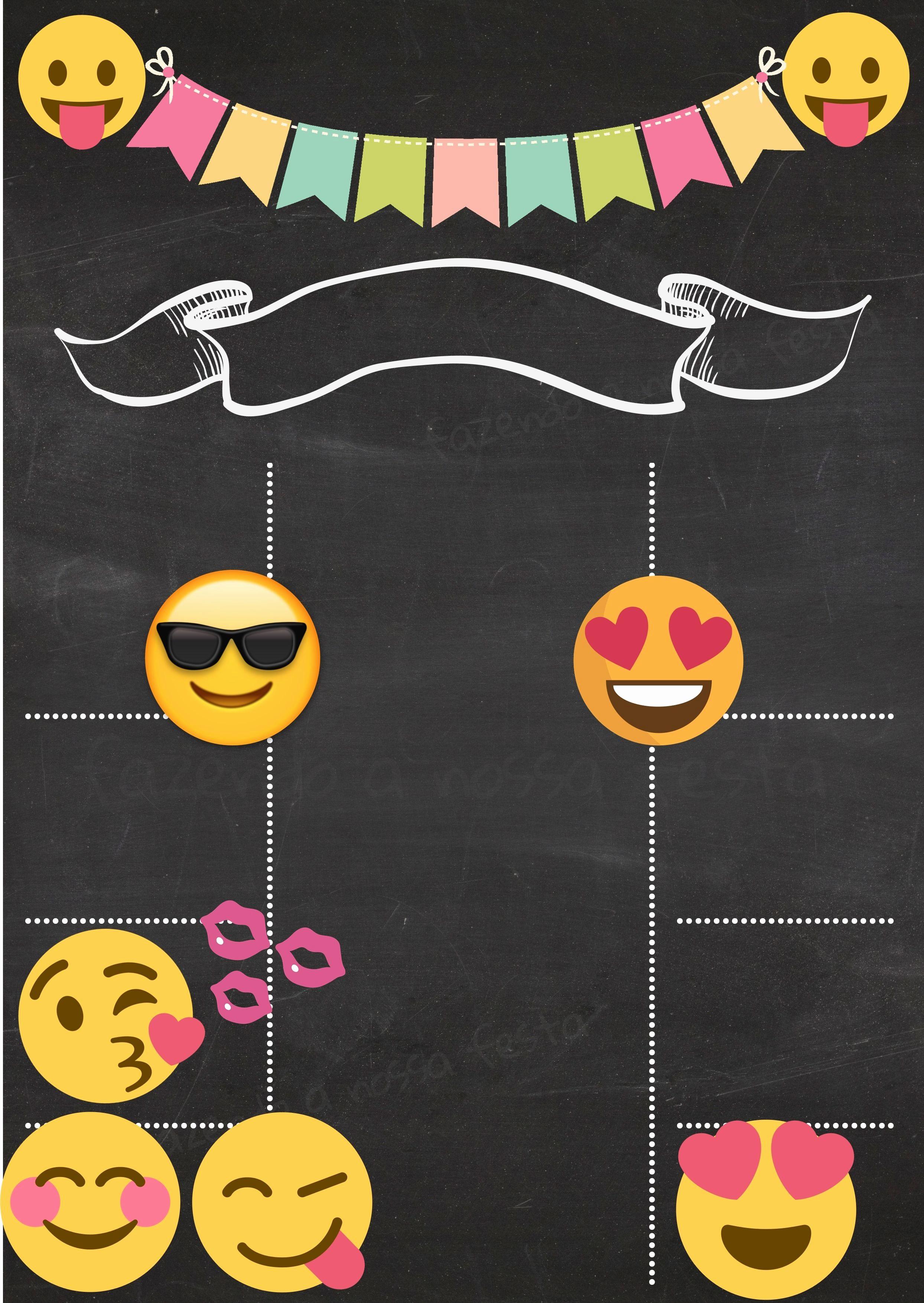 Plantillas De Cumpleaños Para Editar Best Of Invitacion Emojis