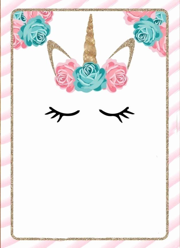 Plantillas De Cumpleaños Para Editar Elegant Invitaciones De Unicornio Tarjetas Para Descargar E