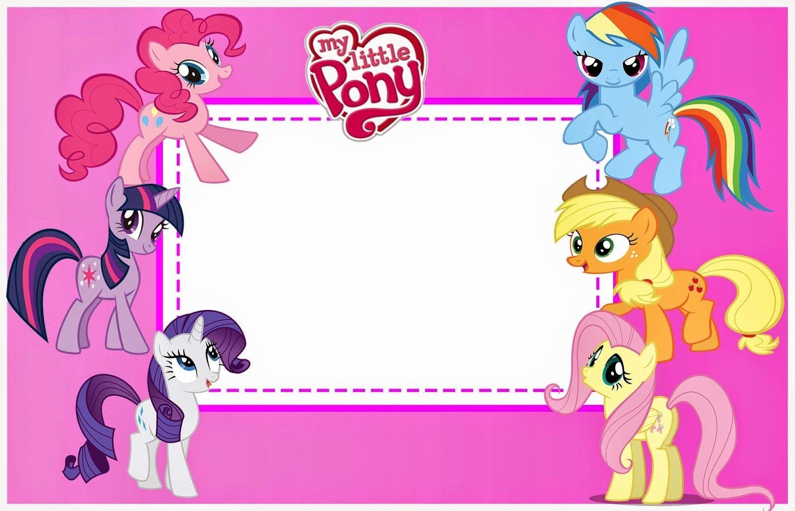 Plantillas De Cumpleaños Para Editar Lovely My Little Pony Invitaciones Para Imprimir Gratis