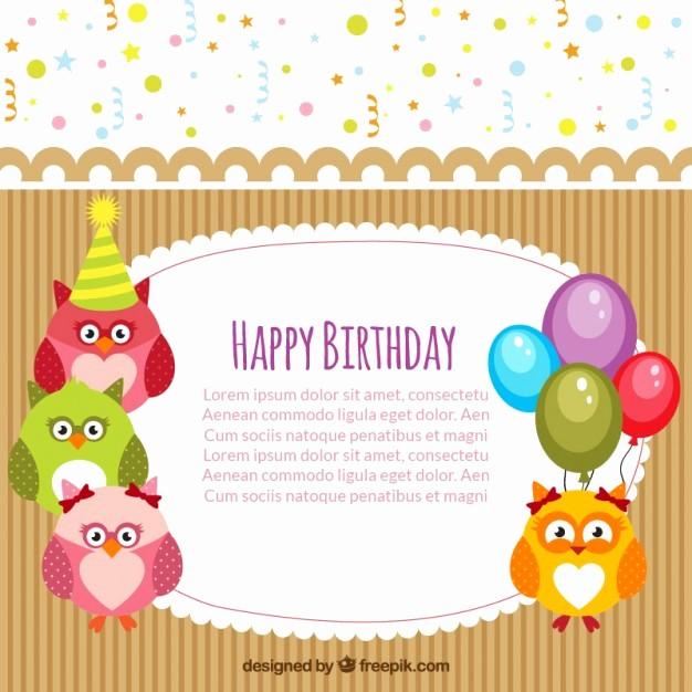 Plantillas De Cumpleaños Para Editar Lovely Plantilla De Tarjeta De Feliz Cumpleaños