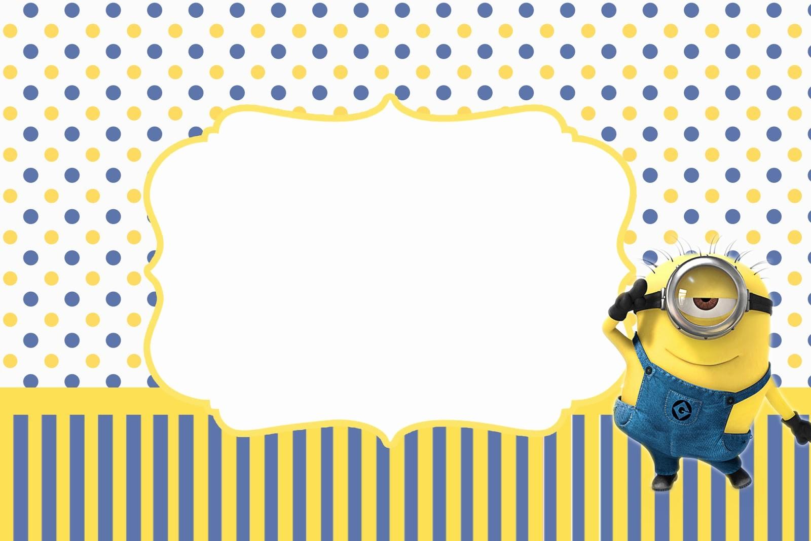 Plantillas De Cumpleaños Para Editar Luxury Las Mejores Invitaciones De Minions Para Imprimir Gratis