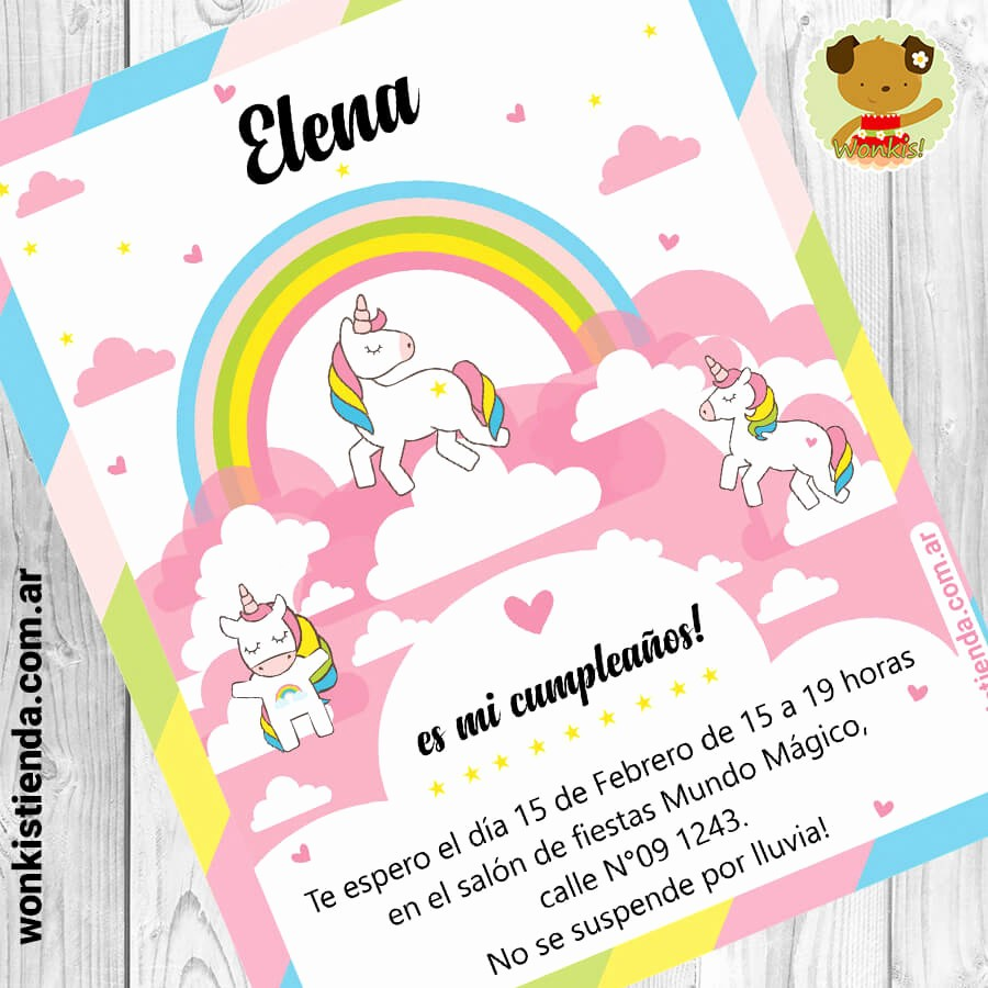 Plantillas De Cumpleaños Para Editar Luxury Unicornio Invitacion Whatsapp
