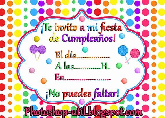 Plantillas De Cumpleaños Para Editar New Invitaciones De Cumpleaños Colores Plantillas Recursos