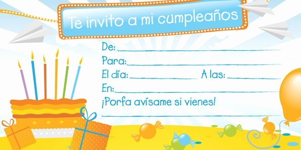 Plantillas De Cumpleaños Para Editar New Invitaciones De Cumpleaños Para Imprimir