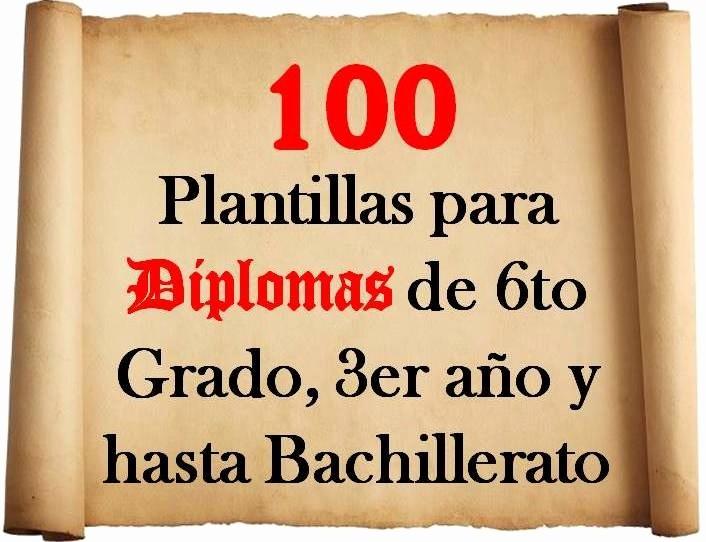 Plantillas De Diplomas Para Editar Awesome Plantillas Para Diplomas De 6to Grado 3er Año Y