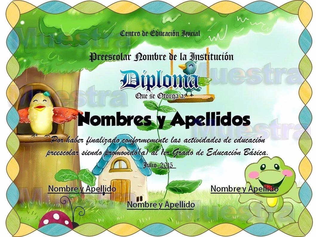 Plantillas De Diplomas Para Editar Elegant 10 Plantillas Editables Para Diplomas Infantiles
