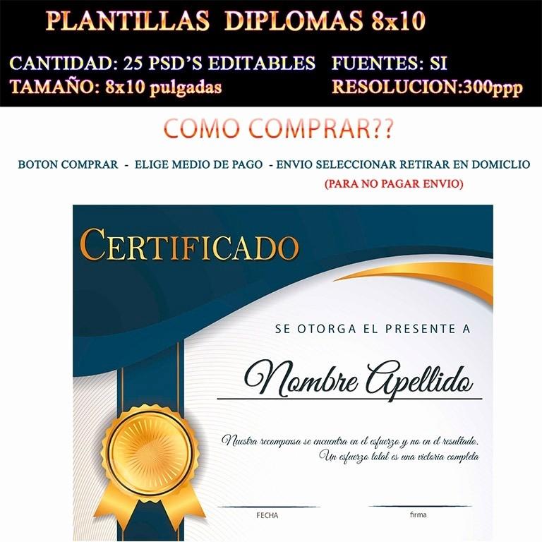 Plantillas De Diplomas Para Editar Inspirational Plantillas Diplomas Reconocimiento Psd 25 Editables