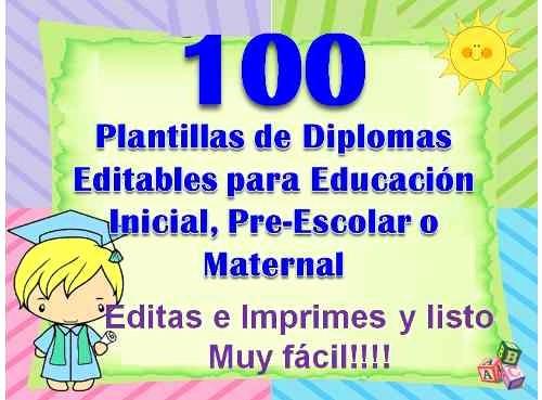 Plantillas De Diplomas Para Editar New 100 Plantillas Para Diplomas Infantiles Y Preescolares
