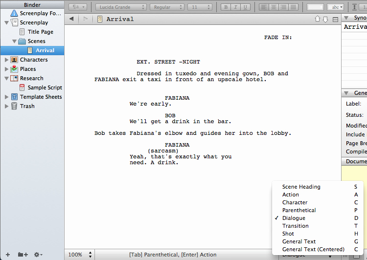Play Script format In Word Beautiful Writing A Screenplay In Scrivener – Gwen Hernandez