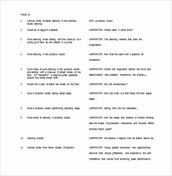 Play Script format In Word Elegant Script Outline Templates 7 Free Sample Example format