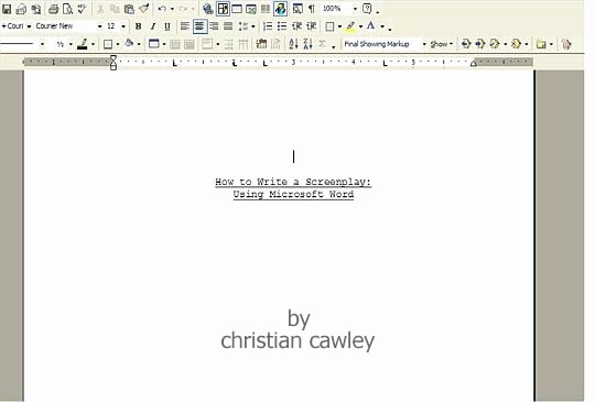 Play Script format In Word Inspirational Screenplay 2010 Movie