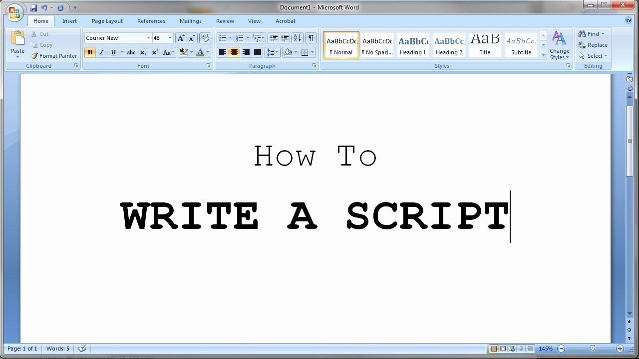 Play Script format In Word Lovely How to Write A Short Script