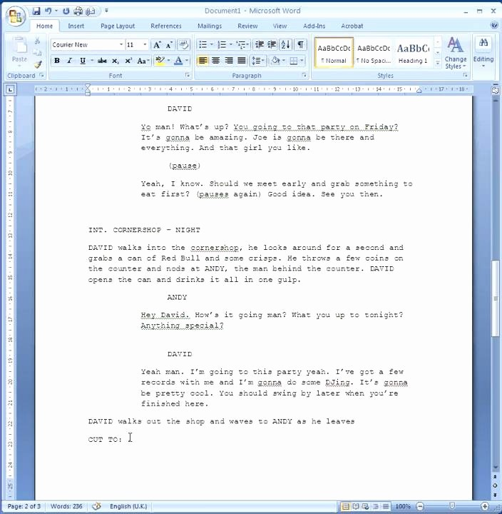 Play Script format In Word New How to format Your Script