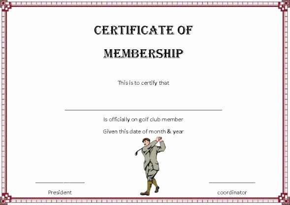 Player Of the Game Certificate Awesome Adorable Golf Certificates for Professional Players Free