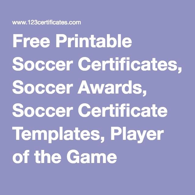 Player Of the Game Certificate Beautiful 8 Best Certificate Images On Pinterest