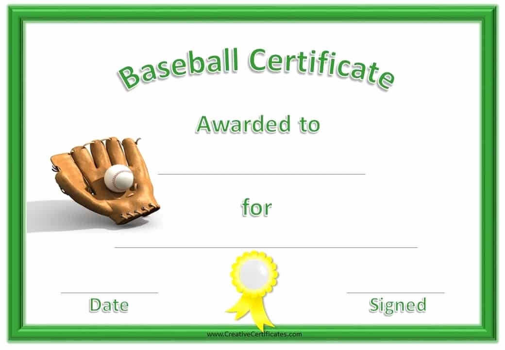 Player Of the Game Certificate Beautiful Free Editable Baseball Certificates Customize Line