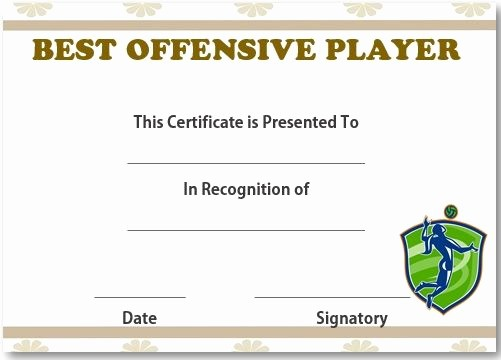 Player Of the Game Certificate Best Of 19 Best Volleyball Certificates Free Printables Images On