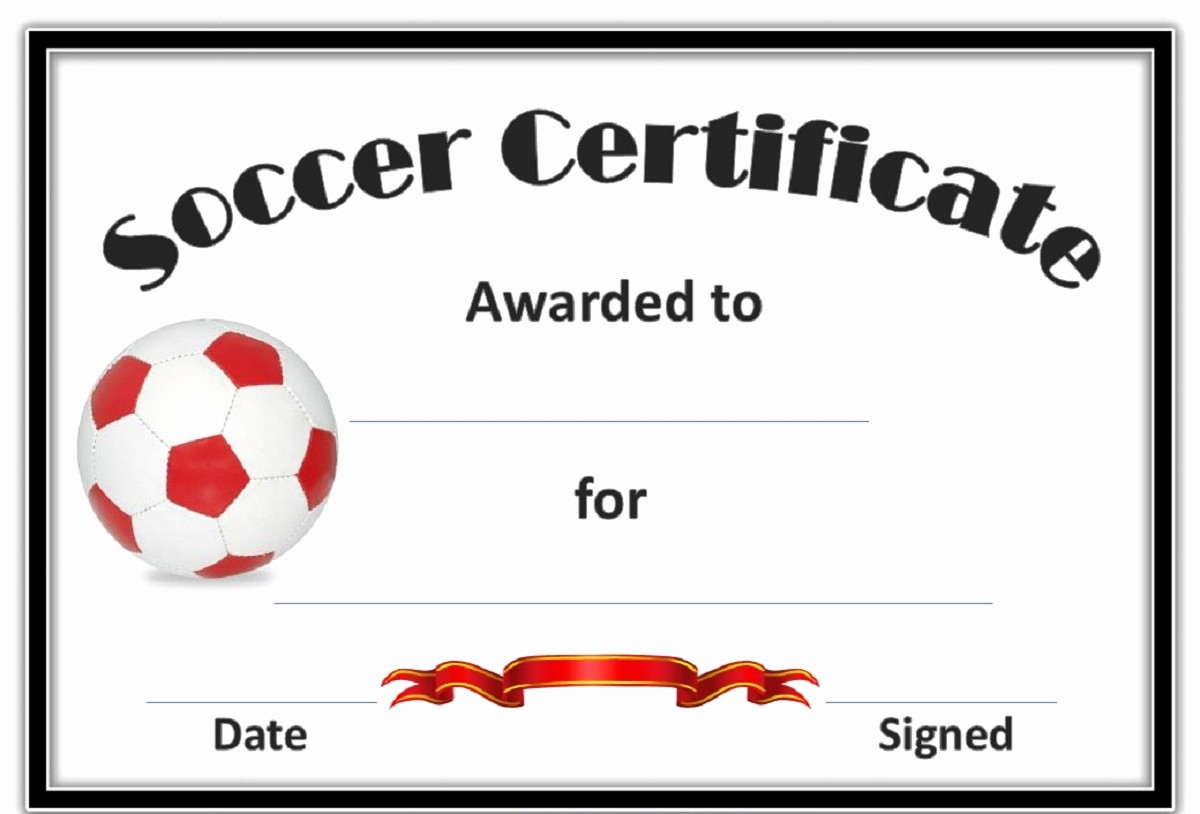 Player Of the Game Certificate Fresh soccer Award Certificates Template