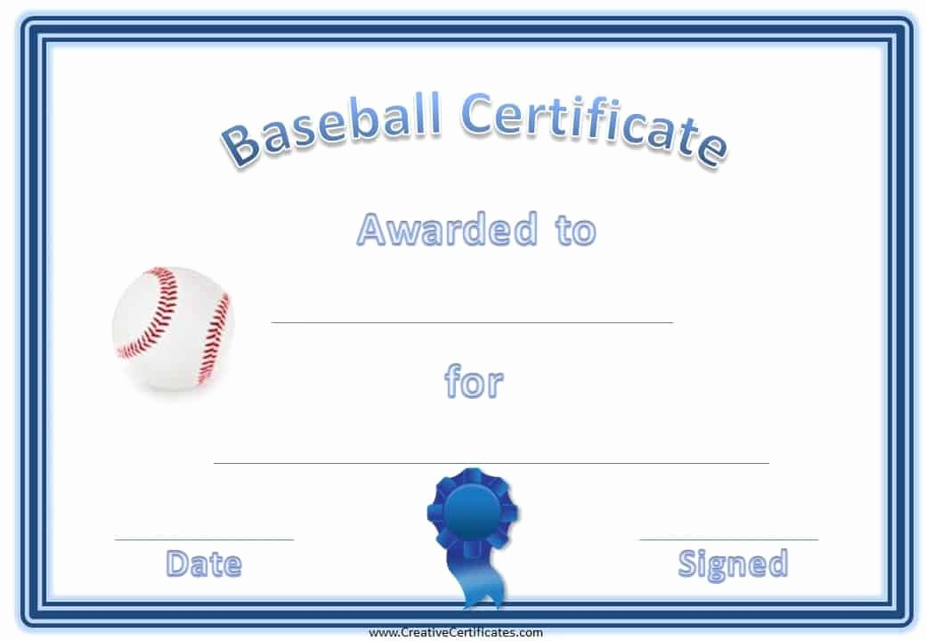 Player Of the Game Certificate Lovely Free Editable Baseball Certificates Customize Line