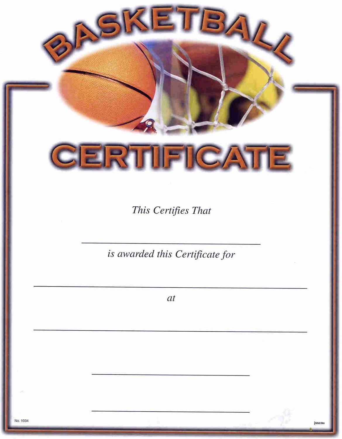 Player Of the Game Certificate Luxury Basketball Award Certificate to Print