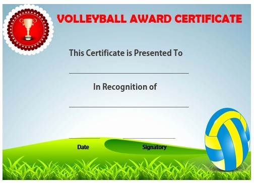 Player Of the Game Certificates Awesome 25 Volleyball Certificate Templates Free Printable