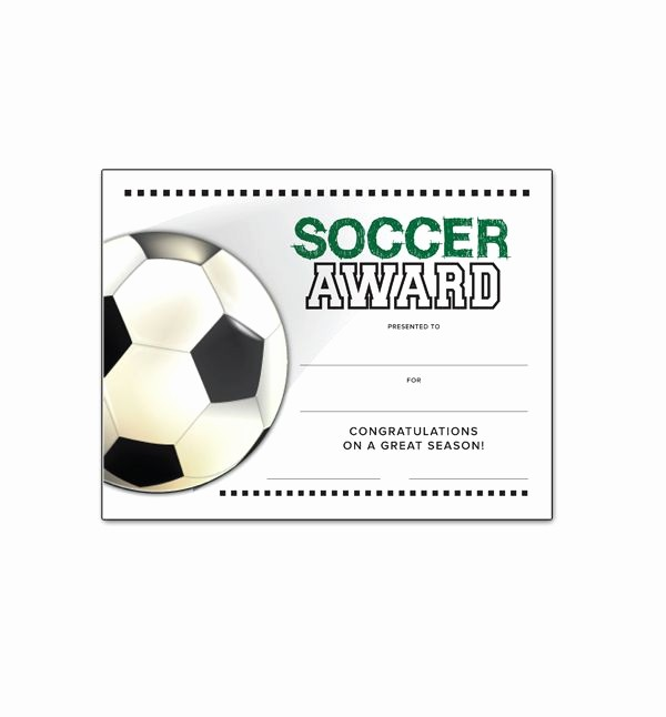 Player Of the Game Certificates Beautiful soccer End Of Season Award Certificate Free
