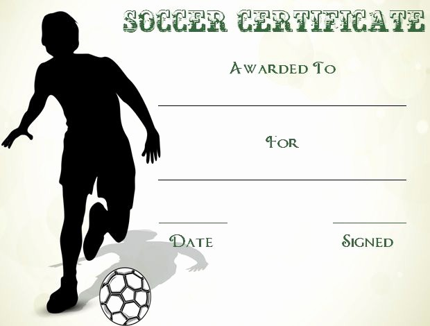Player Of the Game Certificates Best Of 30 soccer Award Certificate Templates Free to Download