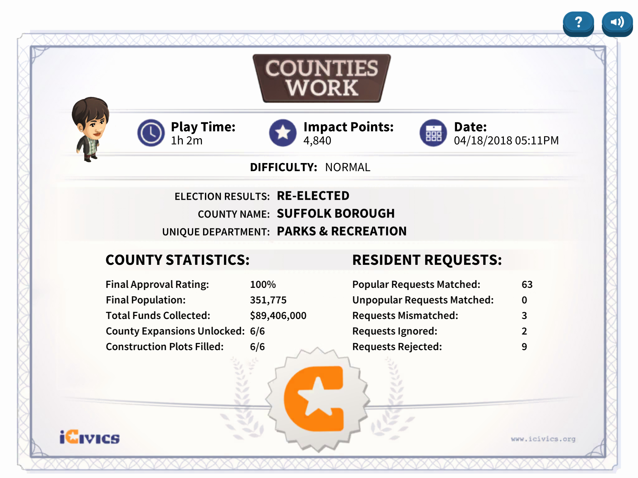 Player Of the Game Certificates Best Of Counties Work Review for Teachers