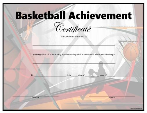 Player Of the Game Certificates Best Of Free Printable Basketball Certificate