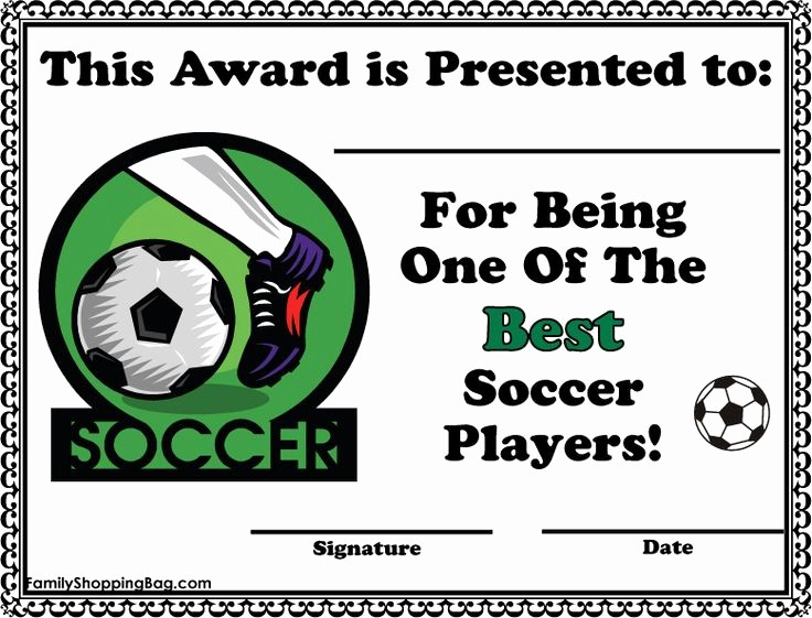Player Of the Game Certificates Best Of soccer Certificate Awards Awards Free Printable Ideas