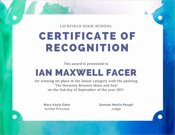 Player Of the Game Certificates Fresh Art Award Certificates 11 Psd Pdf Word Ai Indesign