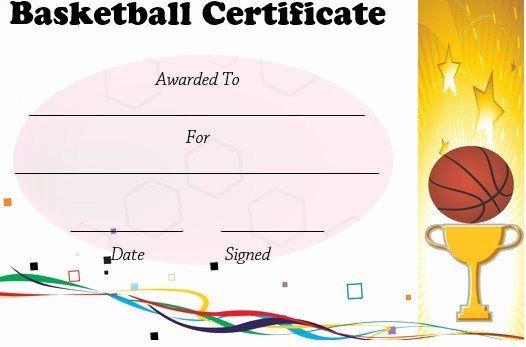 Player Of the Game Certificates Inspirational 27 Professional Basketball Certificate Templates Free